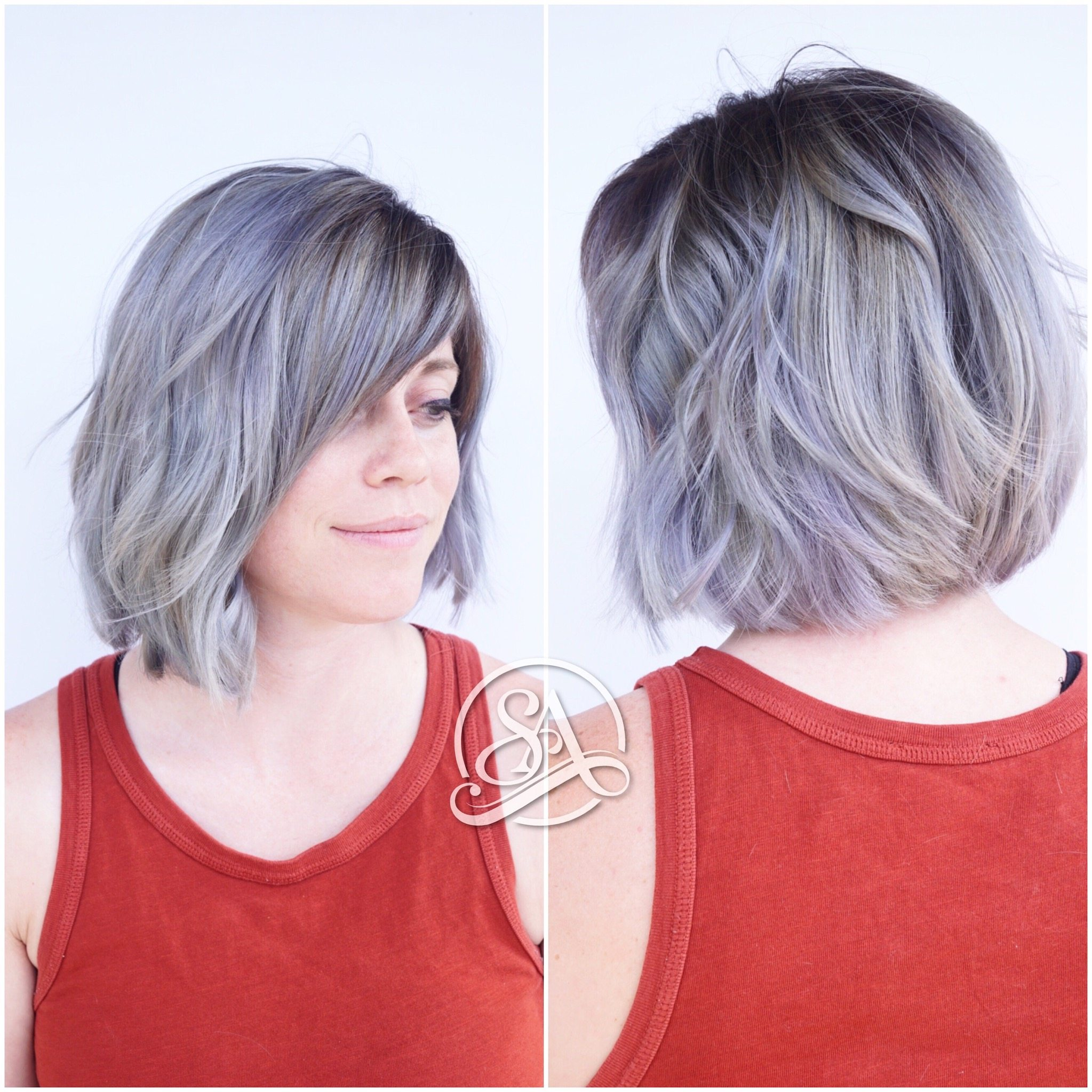 silver hair, salon adelle