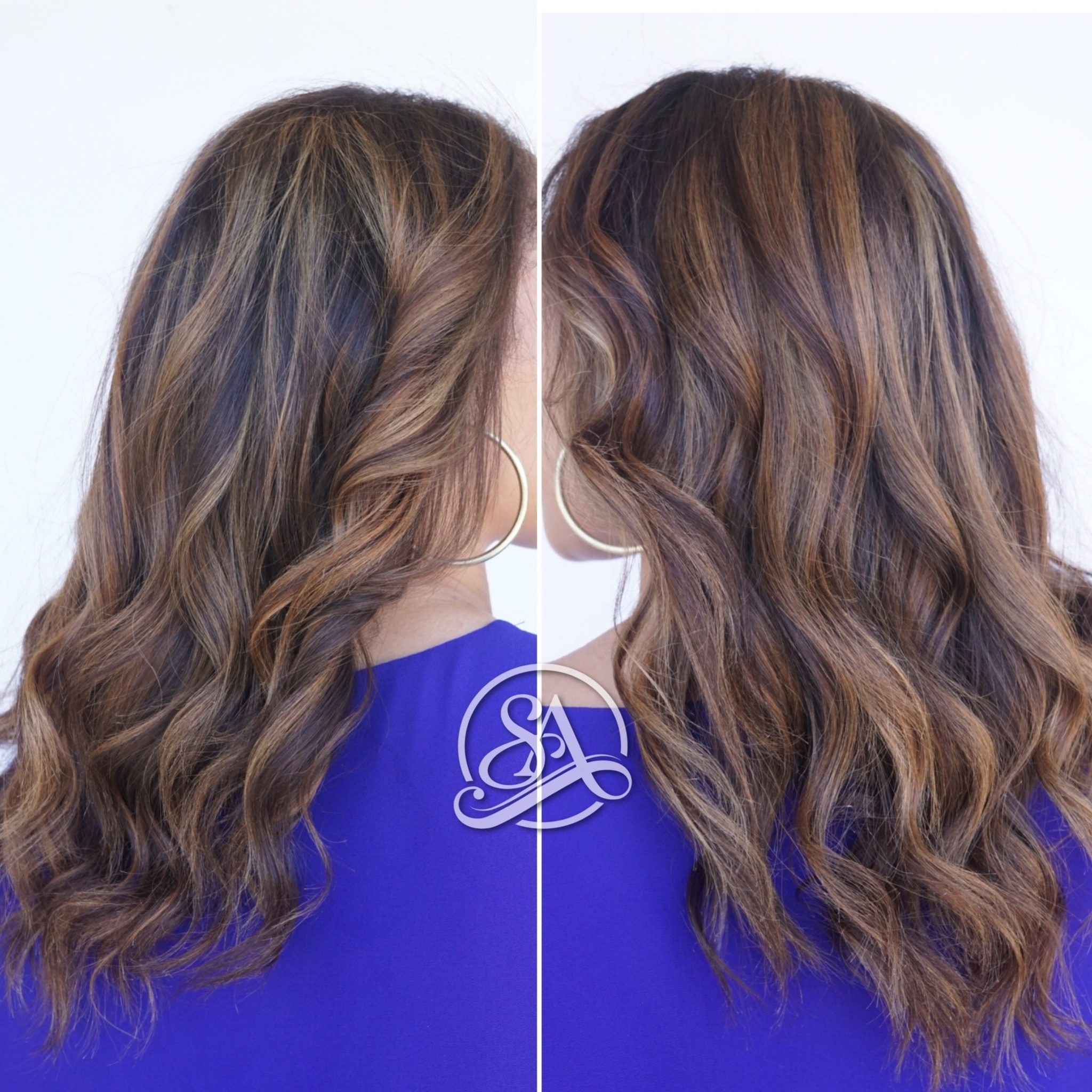 balayage hair in greenville